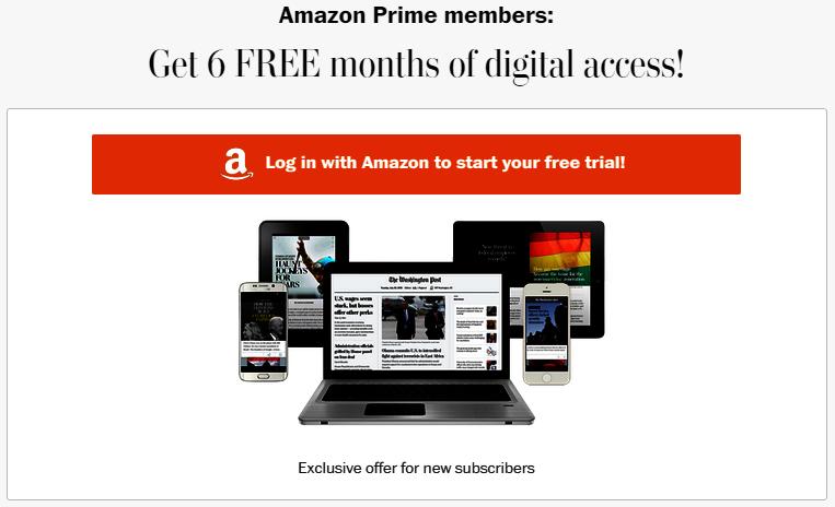 amazon prime newspaper subscriptions