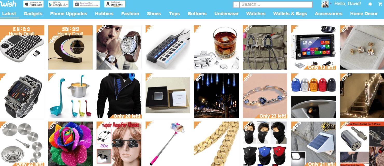 Wish Homepage