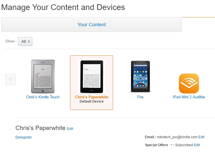 How to change your Kindle or Fire app or device's name and